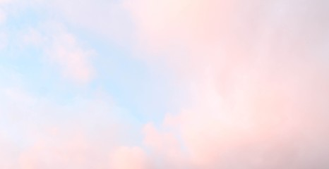 Soft pink cloud in the blue sky abstract background