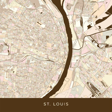 St louis modern Map