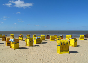 On the beach at the german north sea