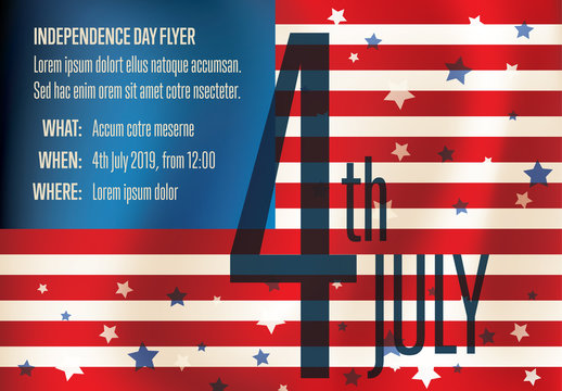 Independence Day Flyer Poster Layout