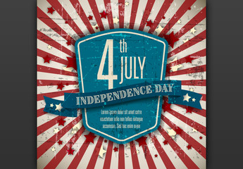 Independence Day Digital Flyer Layout