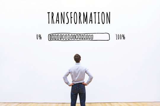 transformation business concept  with progress bar