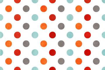 Obraz Watercolor polka dot background. - fototapety do salonu