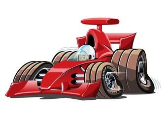 Garden Poster Cartoon cars Vector cartoon formula 1 race car isolated on white