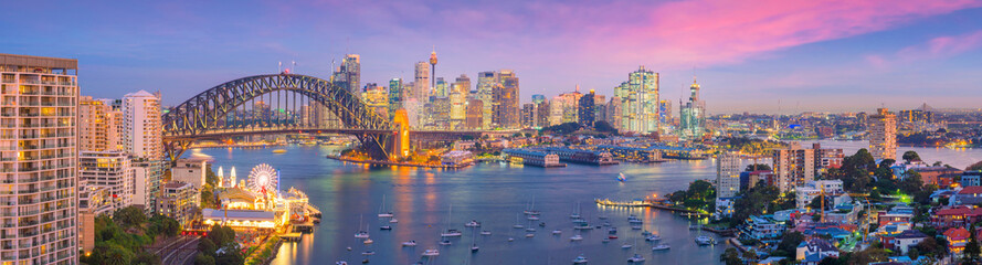 Aluminium Prints Sydney Downtown Sydney skyline in Australia