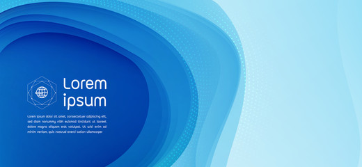 Blue background modern abstract vector.Perfect design for headline and sale banner.