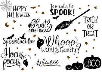 Halloween Quotes Vector Bundle