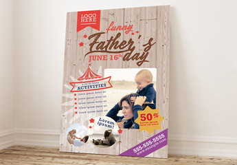 Father´s Day Festival Poster Layout