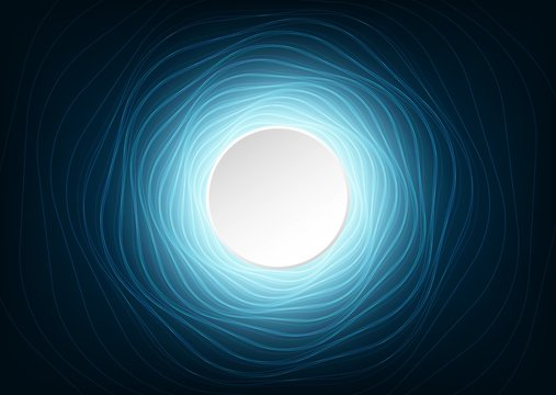 Abstract Digital Spiral Technology System Background,Warp and Network Concept design,free space for text in put.