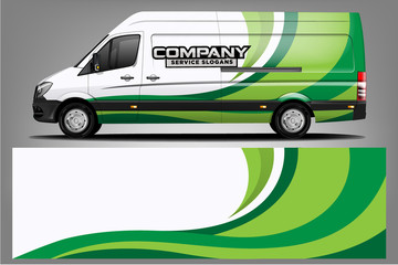 Fototapete - Van wrap design. Wrap, sticker and decal design for company. Vector format - Vector