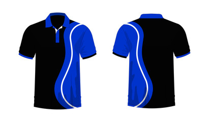 003aed677 T-shirt Polo blue and black template for design on white background. Vector  illustration