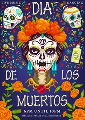 Mexican holiday, dia de los muertos calavera skull