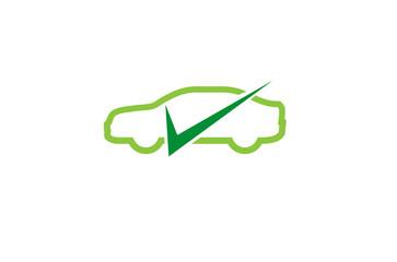 Creative Car Check Logo Design Symbol Vector Illustration
