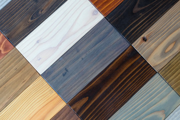 Samples of different kinds of wood