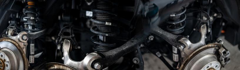 Kollage von Mechanischen Bauteilen (Automobile)
