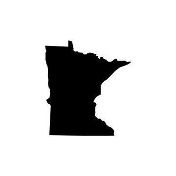 Map of Minnesota. Raster illustration
