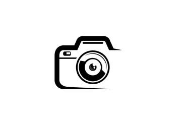 Creative Black Abstract Camera Logo Design Symbol Vector Illustration