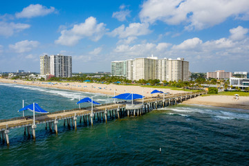 Wall Mural - Aerial photo of Pompano Beach FL summer scene