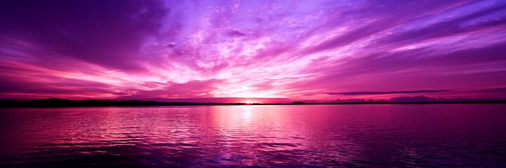 Candy pink coastal sunrise seascape. Australia. Wall mural