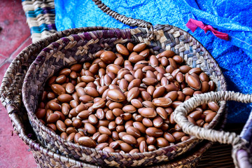 background of Argan seeds shells, photo as background
