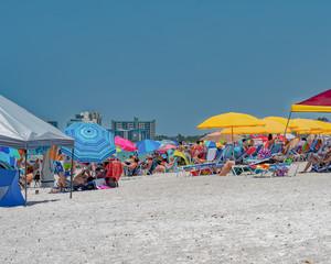 Crowded beach holiday