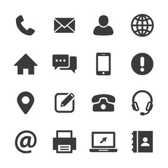 contact and web icons set