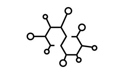 molecule icon vector flat template - Vector