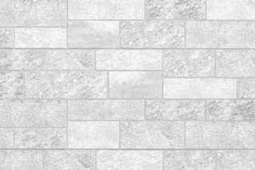 White stone block wall texture and background seamless