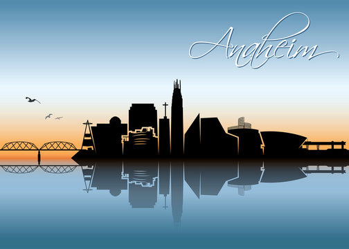 Anaheim skyline - California - United States of America - USA - vector illustration - Vector