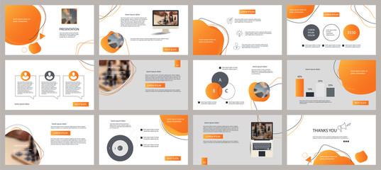 Presentation and slide layout background. Design yellow gradient geometric template. Use for business annual report, flyer, marketing, leaflet, advertising, brochure, modern style.