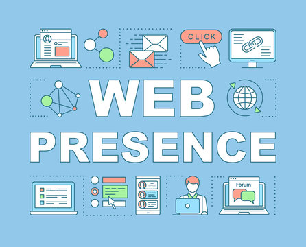 Web presence word concepts banner