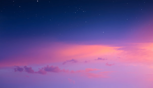 magical pink sunrise sky background