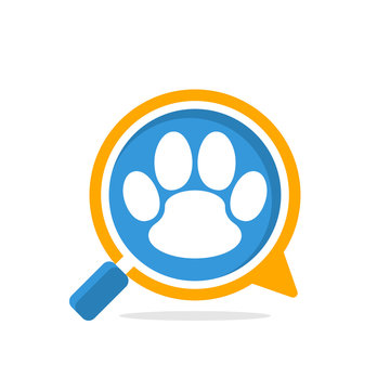 Vector illustration icon with communication and review media, to access information about pets