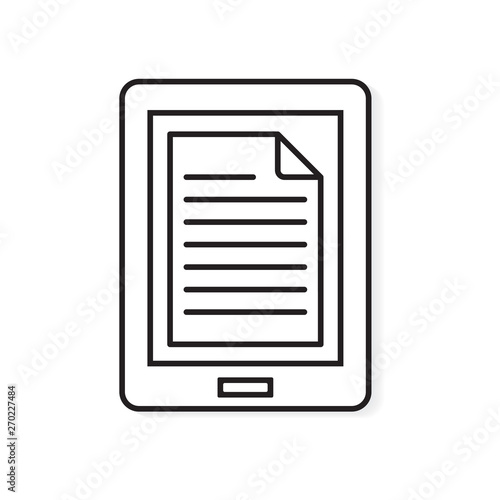 Ebook Reader Icon Vector Illustration Stock Image And
