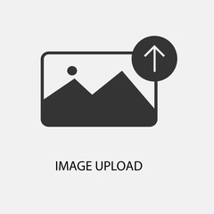 Image upload vector icon illustration sign