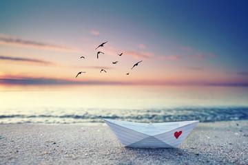 Romantik am Abend am Strand