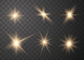 Set of glow light effect