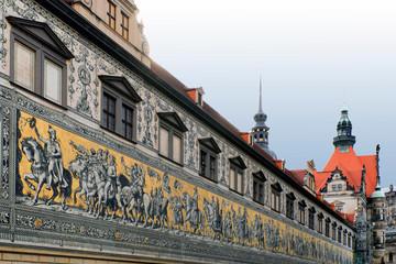 Fototapete - Dresden: Fürstenzug, Langer Gang