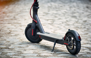 The electric scooter is the most environmentally friendly means of transport on the street.