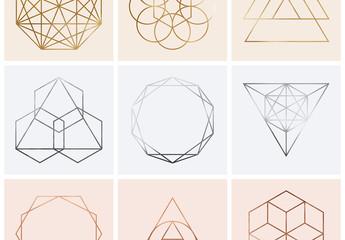 Set mit Erdmetall-Strukturen