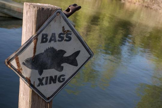 Bass fishing sign