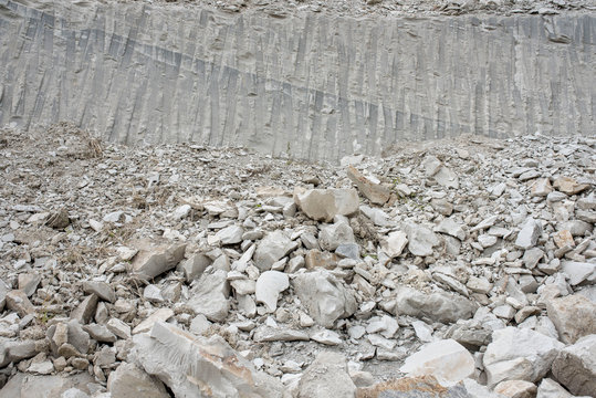 Limestone and marl quarry as concept for mining industry