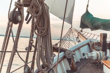 Canvas Prints Ship Sail boat rope