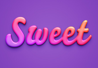 Pop Style Candy Text Effect Mockup