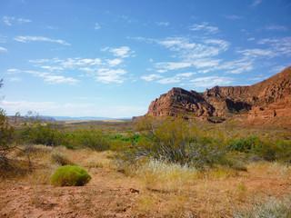 Utah scrub desert landscape
