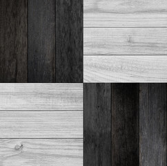 Wood  texture for background. Black-white parquet floor with geometric pattern. Panel of planks for...