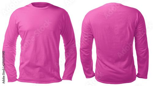 438d753c146c Pink White Long Sleeved Shirt Design Template
