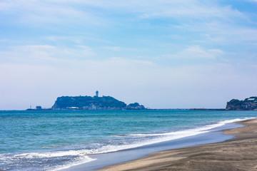 (神奈川県ー風景)七里ヶ浜から見る江の島6 Wall mural