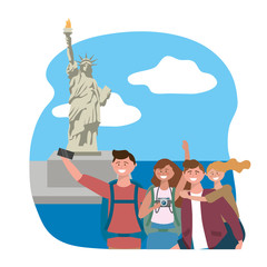 Statue of Liberty in New York design