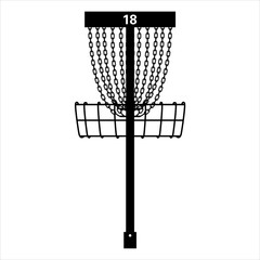 Disc Golf Basket Pin Vector Graphic Icon Illustration